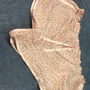 Victoria Secret animal print pajama shorts